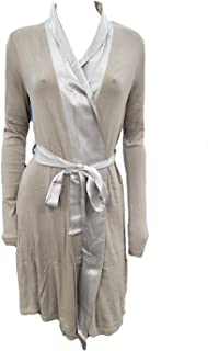 product image for PJ Harlow Elijah Rib Knit Longsleeve Robe With Satin Trim And Belt