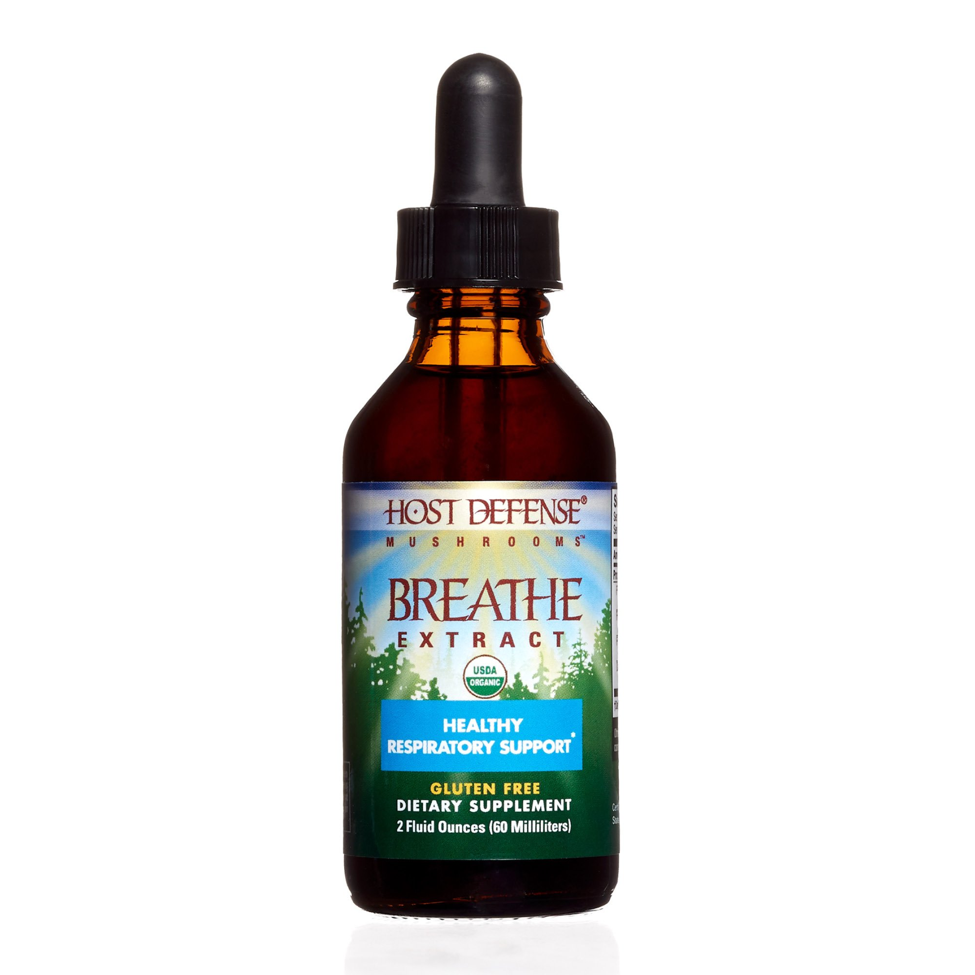 Host Defense - Breathe Multi Mushroom Extract, Support for Energy, Easy Respiration, and Immunity in The Lungs, Non-GMO, Vegan, Organic, 60 Servings (2 Ounces)
