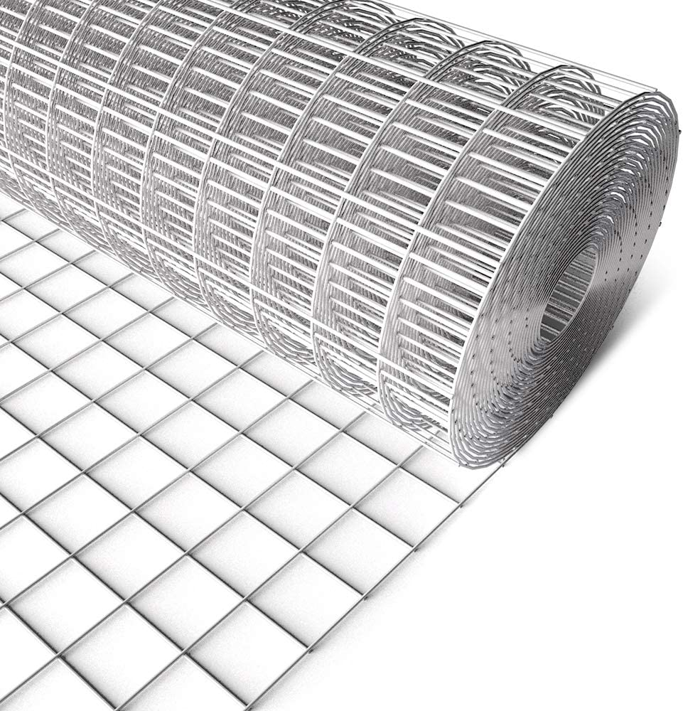 Amagabeli 48inch x 100ft Hardware Cloth 2inch Square Openings Hot-Dipped Galvanized Welded 14 Gauge Wire Mesh Fence Roll for Vegetables Garden Netting Rabbit Chicken Coop Animal Enclosure
