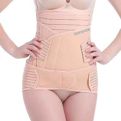1664bd57df ZHENJIER 3 in 1 Postpartum Support - Recovery Belly Waist Pelvis Belt  Shapewear (
