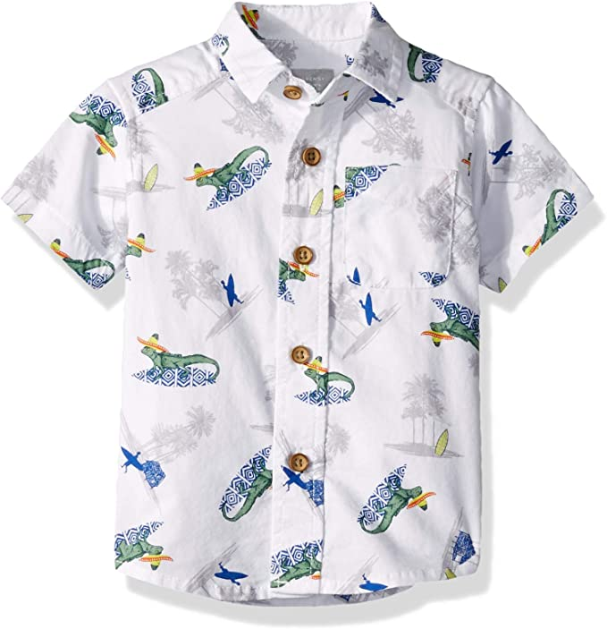 The Childrens Place Baby Boys Printed Woven Button Downs