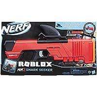 NERF Roblox MM2: Shark Seeker dartblaster, haaienvin-action, 3 mega-darts, code voor het vrijschakelen van een virtueel…