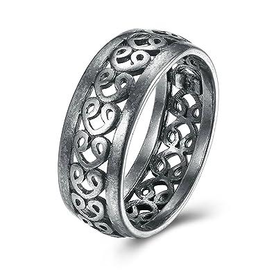 Amazon Com Gnzoe Jewelry Luxury Wedding Band Rings Men Women Heart