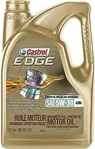 Castrol 03037 EDGE 5W-30 A3/B4 Advanced Full Synthetic Motor Oil, 5 quart