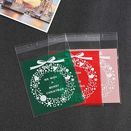 Amazon Com Minelife Christmas Candy Bags 300 Pieces