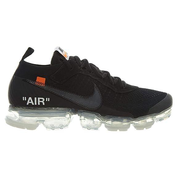b869b25ec7 Nike Air Vapormax x Off White Black 2.0 - Black/Clear-Total Orange Trainer:  Amazon.es: Zapatos y complementos