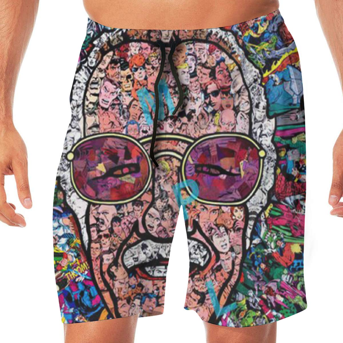 Mens Shorts Trunk Summer Pockets Father of Cartoons Swim Beach Athletic Quick Dry Beachwear Boardshort