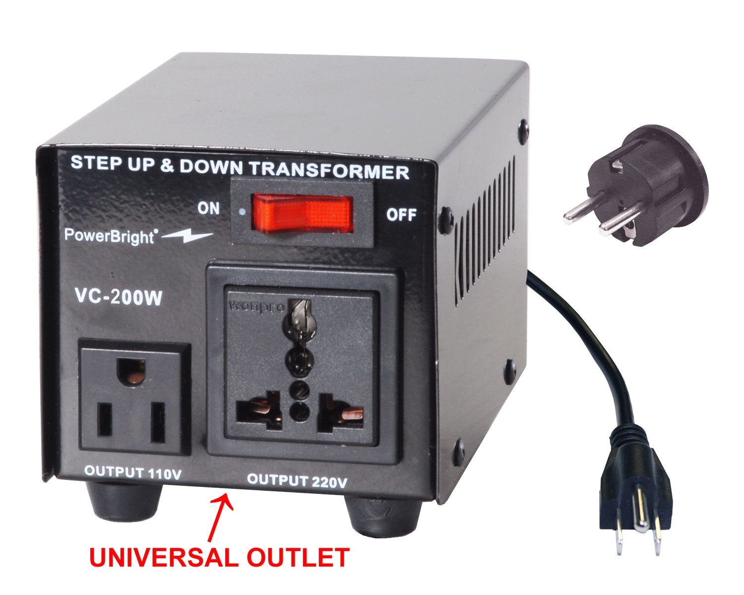 Amazon power bright vc200w voltage transformer 200 watt step up amazon power bright vc200w voltage transformer 200 watt step updown converter 110120 volt 220240 volt garden outdoor publicscrutiny Images