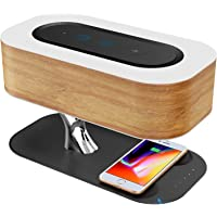 Ampulla Ampulla Bedside Lamp with Bluetooth Speaker and Wireless Charger, Sleep Mode Stepless Dimming (Exclusive), QR-8…