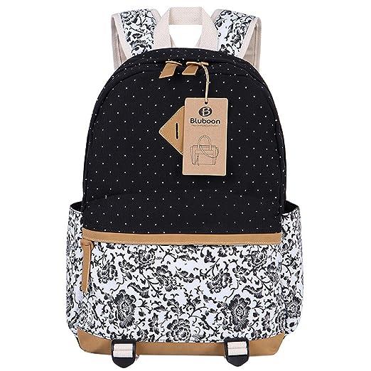 11 opinioni per Tela Zaino Scuola Casual Zainetto Ragazza/Donna Backpack Canvas (Nero)