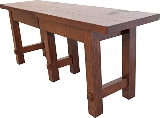 Amazon.com - Rustic Barn Floor Extendable Dining Bench, 4-8 ...