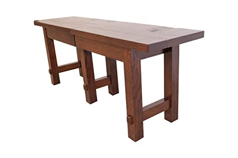 Prime Amazon Com Rustic Barn Floor Extendable Dining Bench 4 8 Theyellowbook Wood Chair Design Ideas Theyellowbookinfo