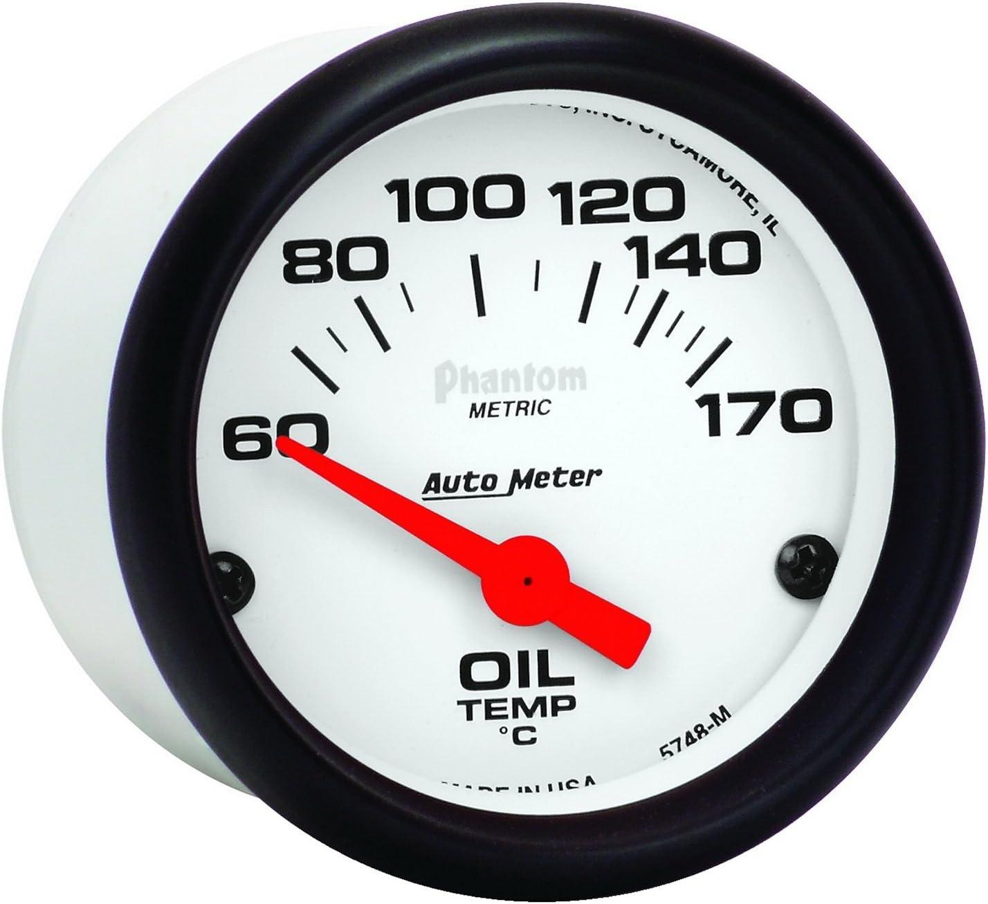 Auto Meter 5748-M Phantom Electric Oil Temperature Gauge