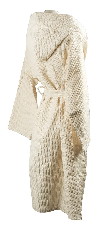 Albornoz de tejido de nido de abeja, 100% algodón: Amazon.es: Deportes y aire libre