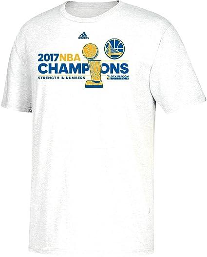 a4bf11d64111 adidas Golden State Warriors 2017 NBA Finals Champions Official Locker Room  White T-Shirt 3X