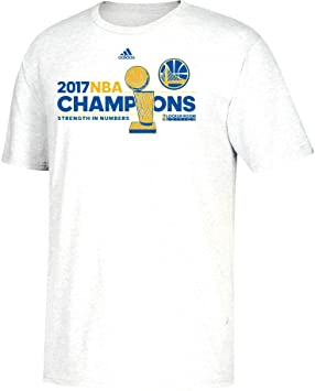 Adidas Golden State Warriors 2017 NBA Finals Champions Oficial Locker habitación Blanco Camiseta, Blanco