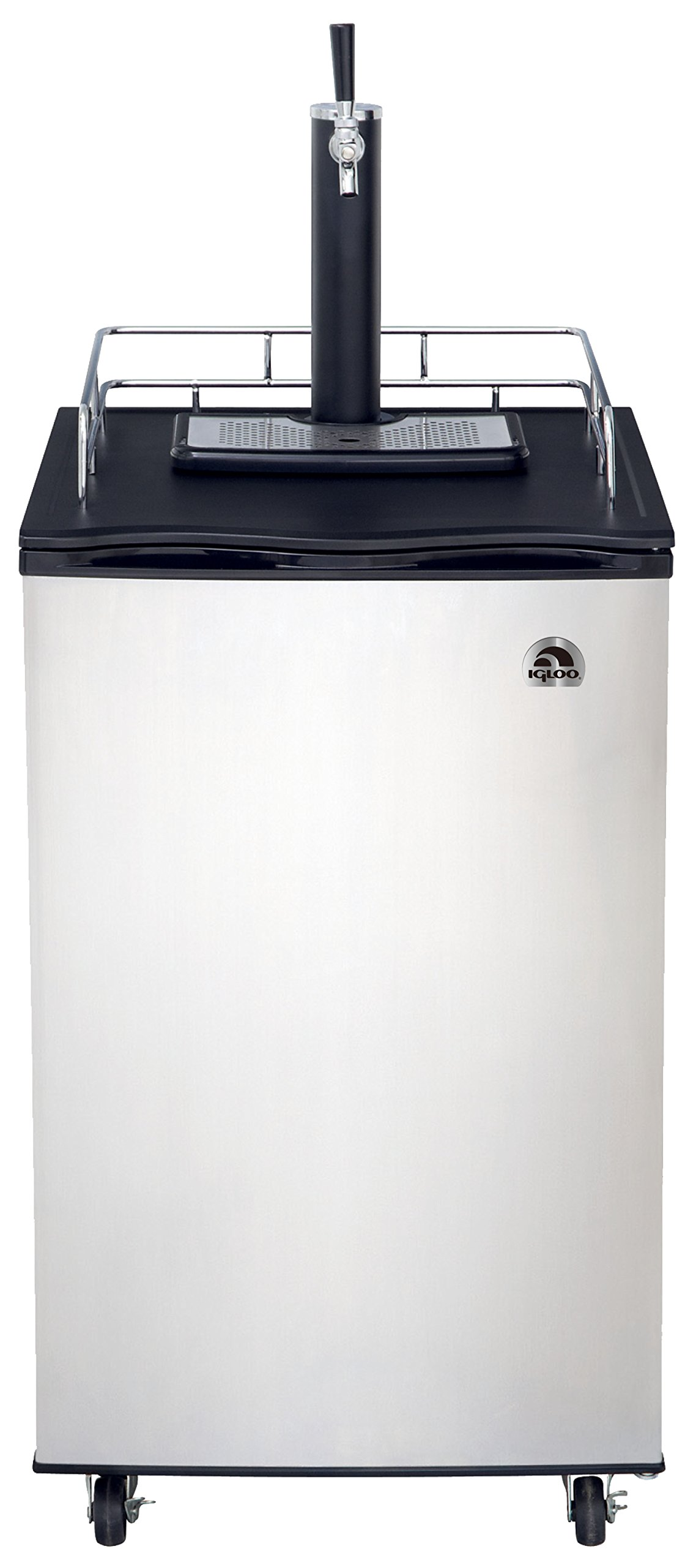 Igloo FRB200C 6 Cubic Feet Beer Kegerator with CO2 Tank and Kit, Stainless Steel