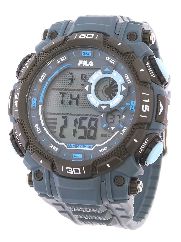 Fila deportivo reloj de hombre digital 10bar luz Alarma 38–826–004