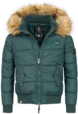 Navahoo Herren Winterjacke Kapuze Kunstfell Winter Jacke warm gefüttert  B635  Amazon.de  Bekleidung 8566c7e95e