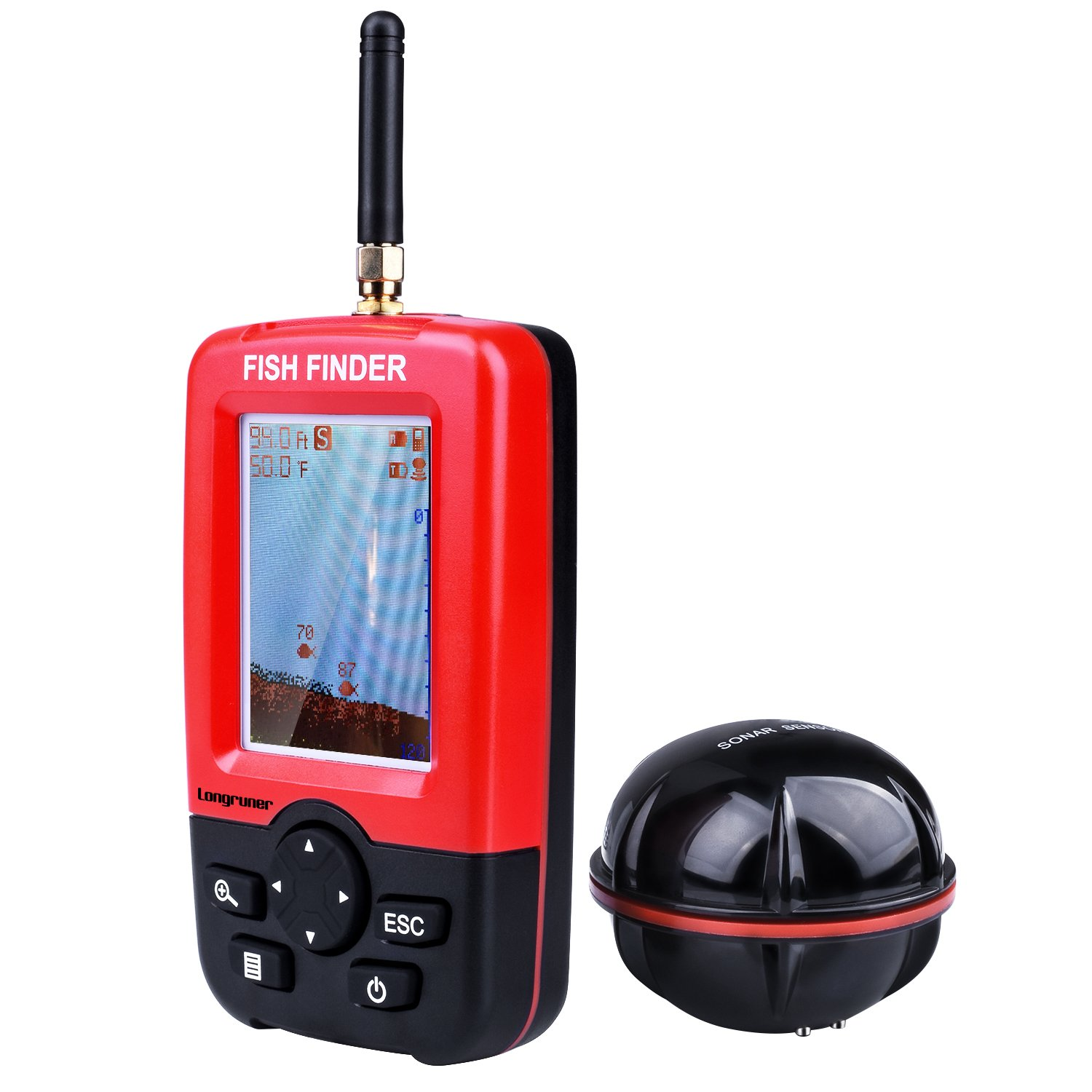 Longruner Fishing Finder Portable Wireless Sonar Sensor Fish Attractor and Fish Gear with Colorful Display product image