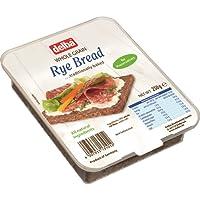 Delba Whole Grain Rye Bread 250 g (Pack of 12)