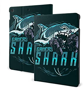 Shark Design Mascot Logo IPad 7th Generation Case IPad 10.2 Case Slim Stand Hard Back Shell Protective Smart Cover Case with Auto Wake Sleep