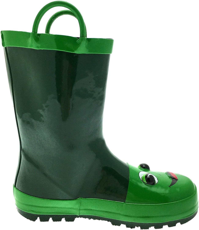 pour neige 2 Poign/ées Taille 10 Lora Dora bottes en caoutchouc 3D pour enfants fille pluie