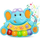 STEAM Life Educational Baby Musical Toy Piano | Light Up Toy Keyboard has 5 Numbered Keys | Plays Songs and Music Memory…