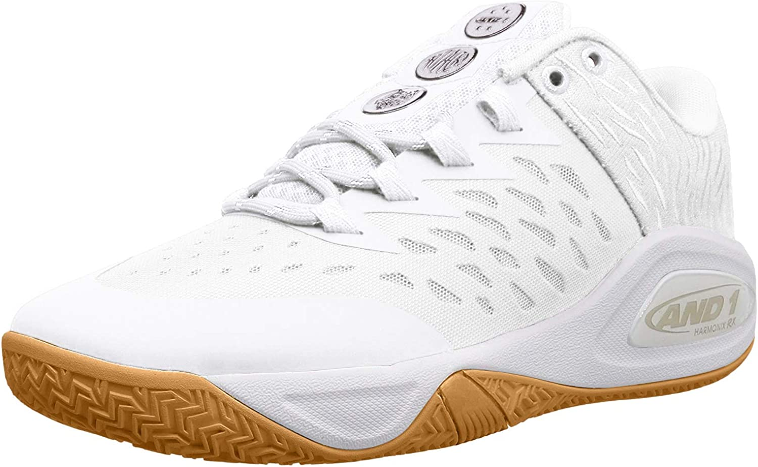 White//Super Foil//Gum 15 AND 1 Mens Attack Low Basketball Shoe