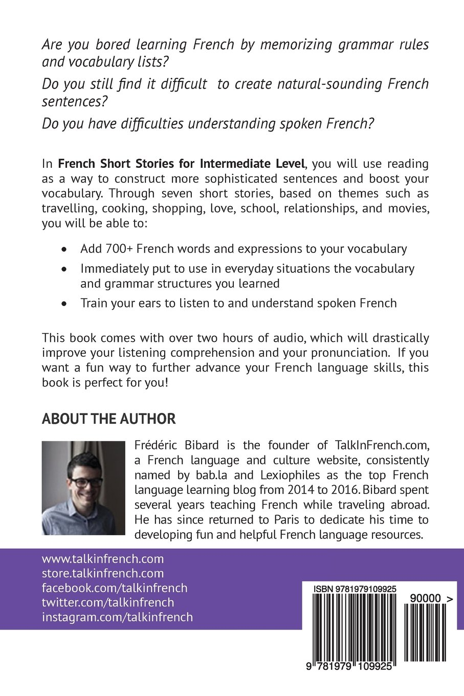 French: Short Stories for Intermediate Level + AUDIO Vol 3
