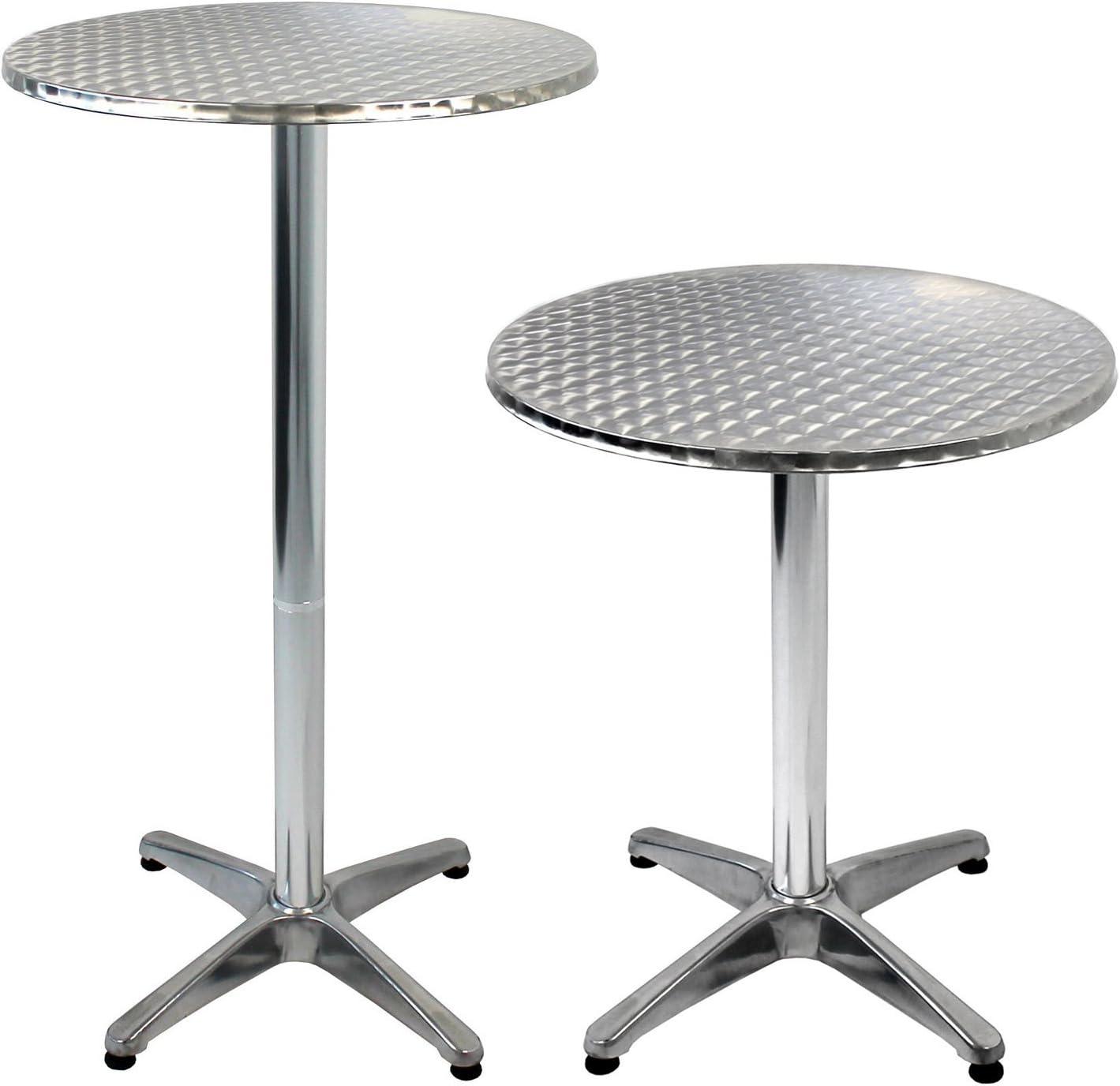 2in1 Aluminium Bistrotisch /& Stehtisch Ø60cm H70//110cm Bartisch Partytisch