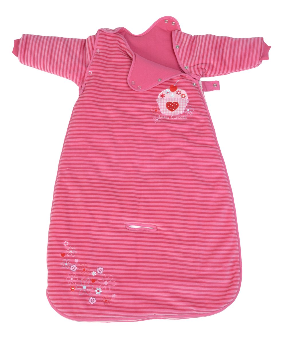 LIMITED OFFER! The Dream Bag Baby Sleeping Bag Long Sleeved Travel Cupcake 18-36 Months 2.5 TOG - Pink