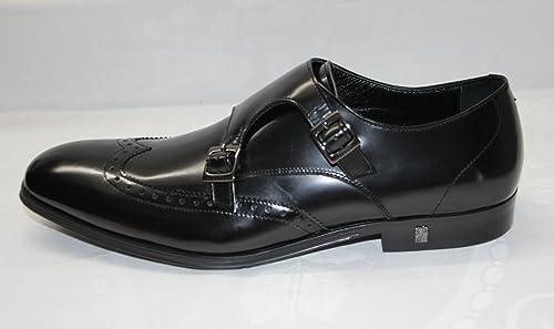 Versace - Mocasines de cuero para hombre negro negro 39: Amazon.es: Zapatos y complementos