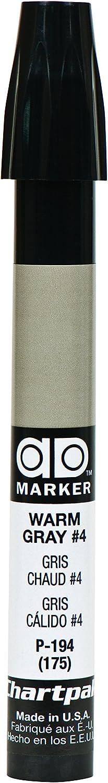 The Original Chartpak AD Marker, Tri-Nib, Warm Gray 4, 1 Each (P194)