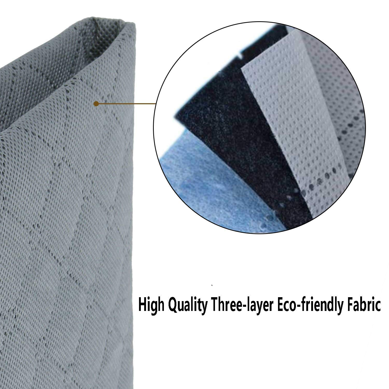 2X 53L+2X 80L HouChanges Bambuskohle-Faser Bunte Unterbetttasche,Mix Pack