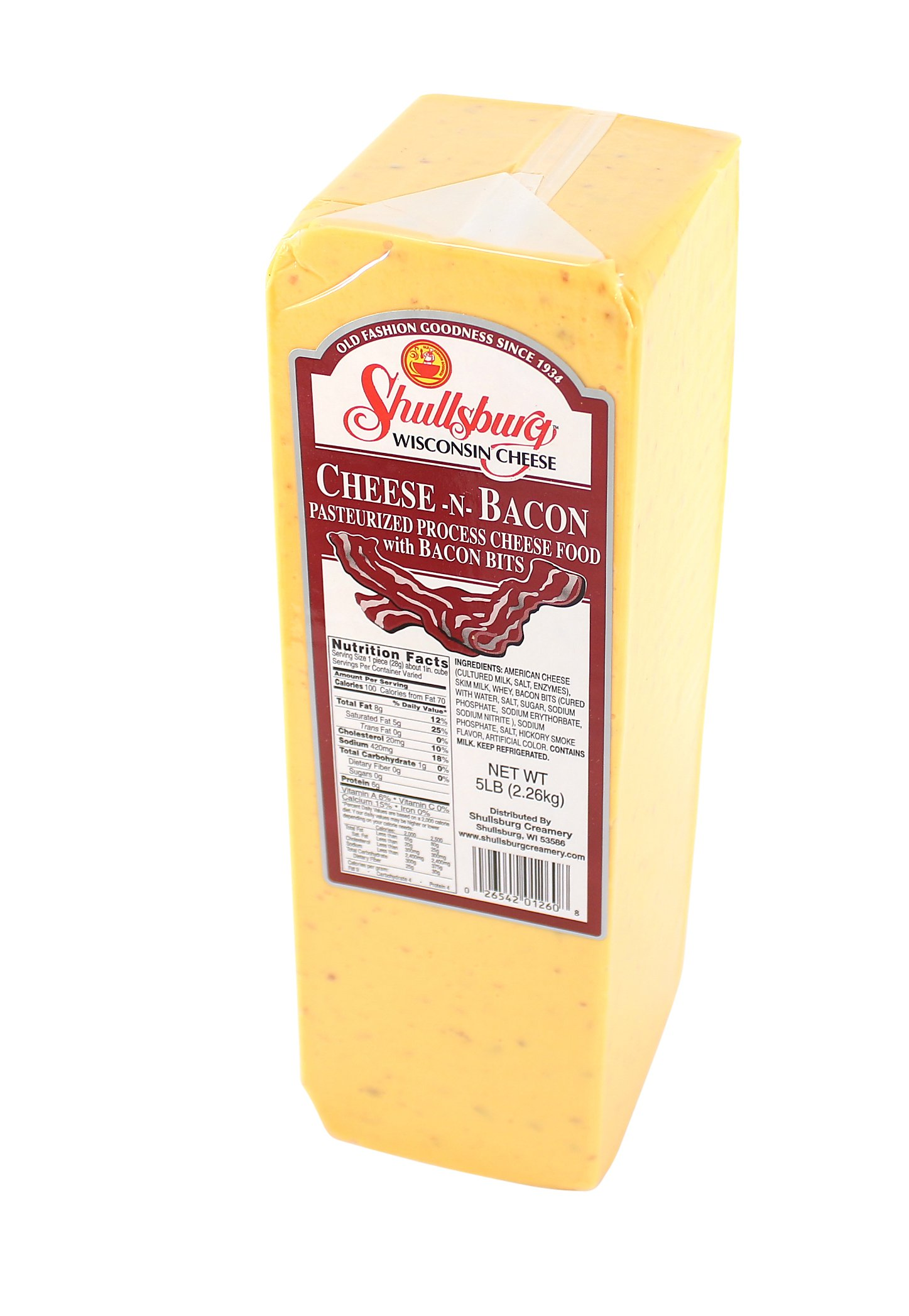 Shullsburg Creamery - Cheese-N-Bacon - 5 Pound Loaf