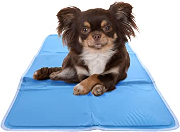 Chillz Cooling Mat For Dogs Pressure Activated Gel Dog Cooling Mat No Need To Freeze Or Refrigerate This Cool Pet Pad Keep Your Pet Cool Use