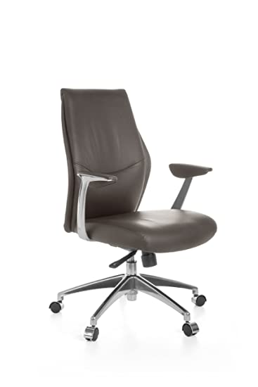 Drehsessel höhenverstellbar  AMSTYLE Bürostuhl OXFORD 2 Echt-Leder Braun Design ...