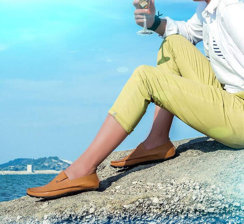 Hy Herrenschuhe, Mikrofaser-Sole Comfort Breathable Driving schuhe, Formal Business Business Business schuhe, Herren-Frühlingsscheren & Slip-Ons Lazy-Schuhe,d,41 103449