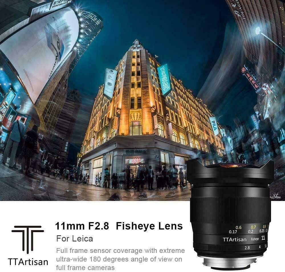 TTArtisans 11mm F2.8 Fisheye Full Fame Lens for Canon EOS R Mount ...