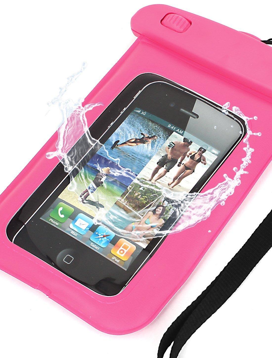 Amazon.com : eDealMax Caso subacuático impermeable seco Bolsa Bolsa de la cubierta rosada Para el teléfono móvil : Sports & Outdoors