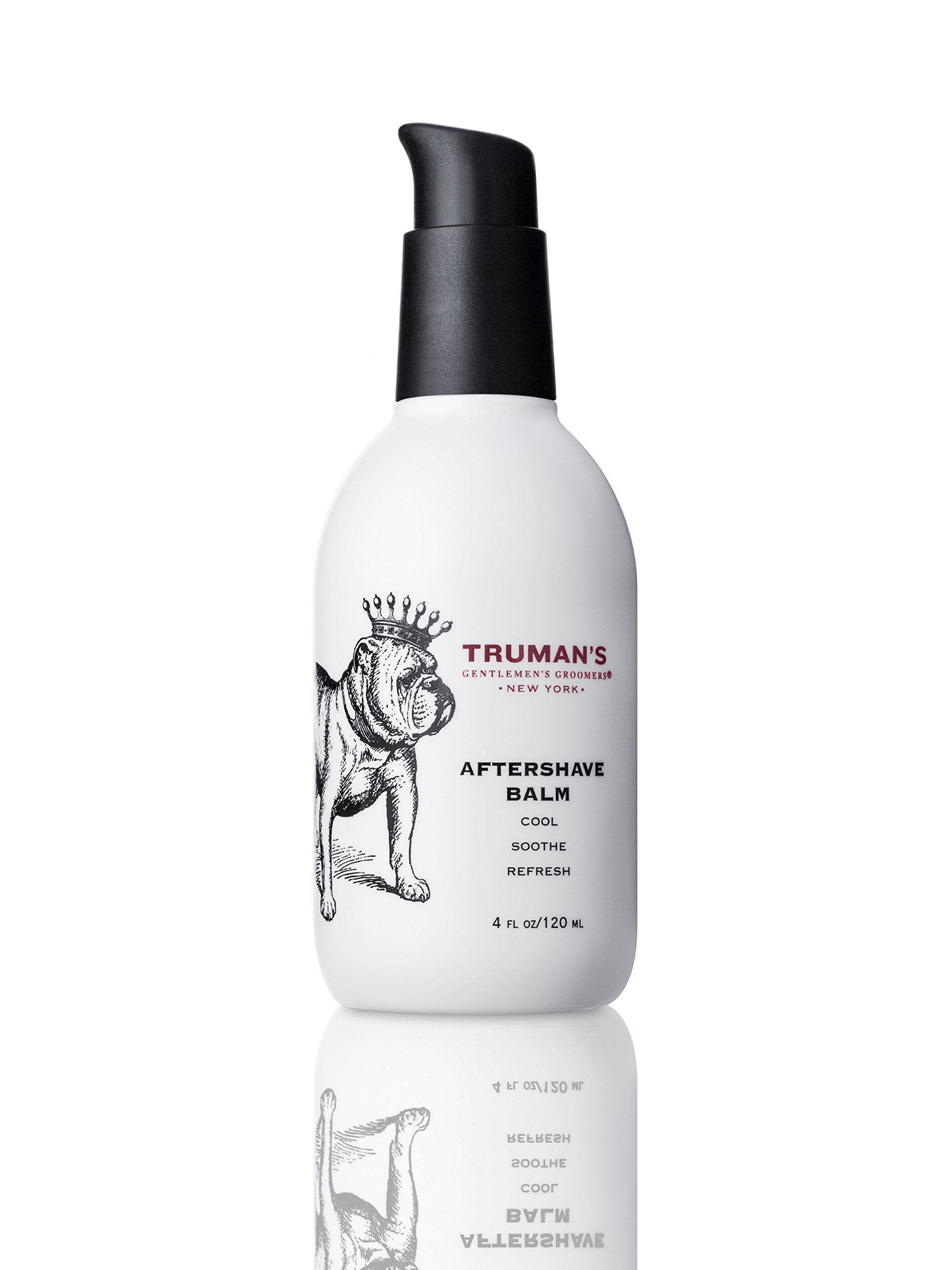 Truman's Gentlemen's Groomers Men's Aftershave Balm - Premium After-Shave Lotion, Soothe & Moisturize Face After Shaving for Manly Smooth Skin - Prevents Razor Burn & Hydrates 4oz