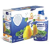 Happy Tot Organic Stage 4 Fiber & Protein, Pears, Blueberries & Spinach, 4 Ounce (Pack of 16) (Packaging May Vary)