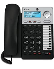 AT&T 2-Line Corded Phone with Speakerphone, 18 number Speed Dial, 100 Name/Number Caller ID and Phonebook, Data Port (ML17929), Black