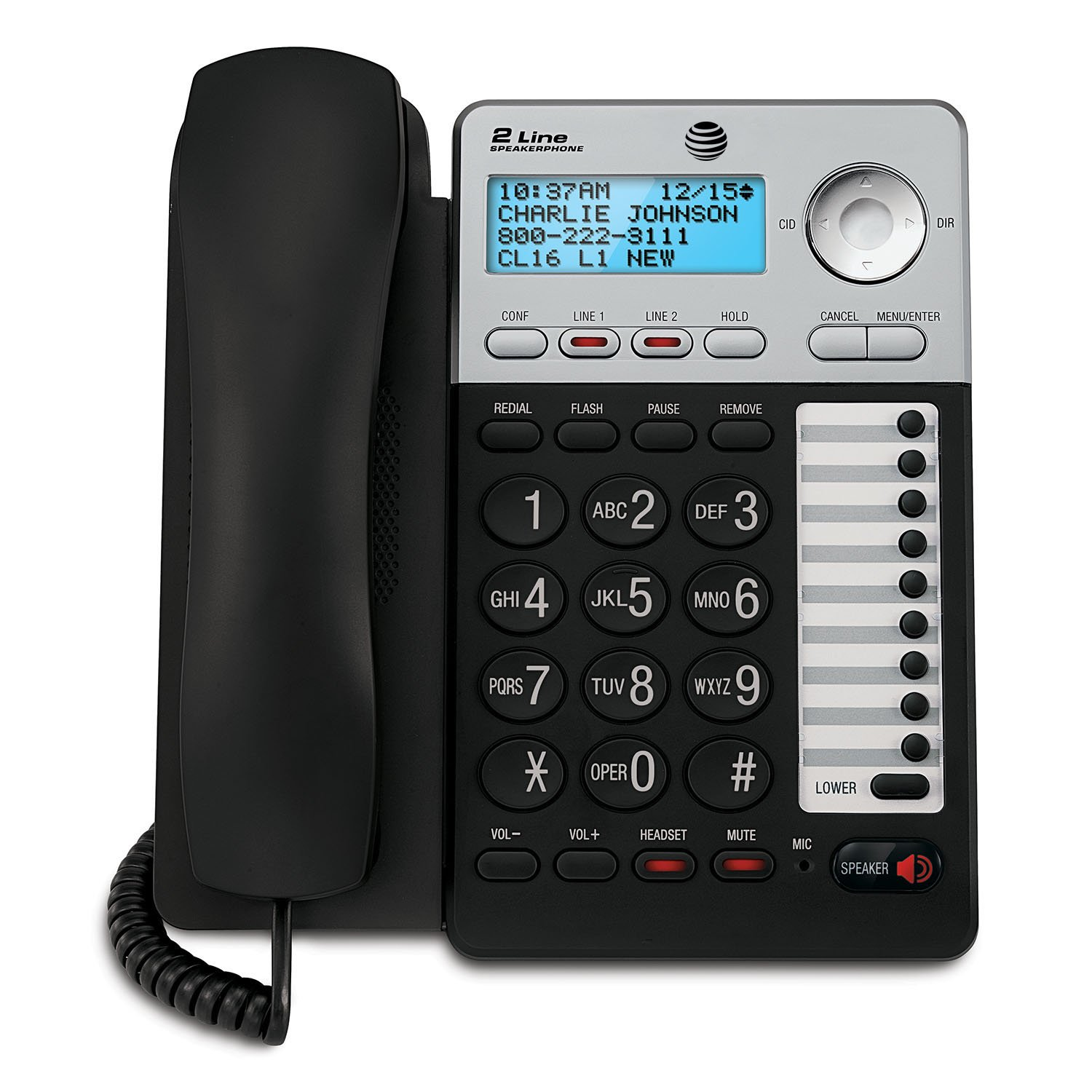 AT&T ML17929 ML17929 Two-Line Corded Speakerphone