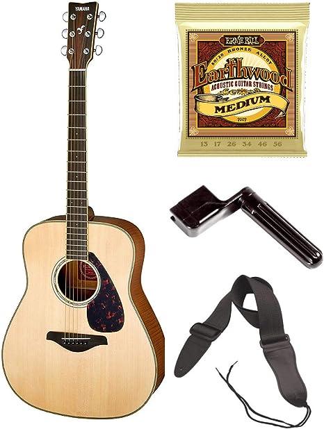 Yamaha FG740 SFM Guitarra Acústica con Cuerdas Extra, Bobinador de ...