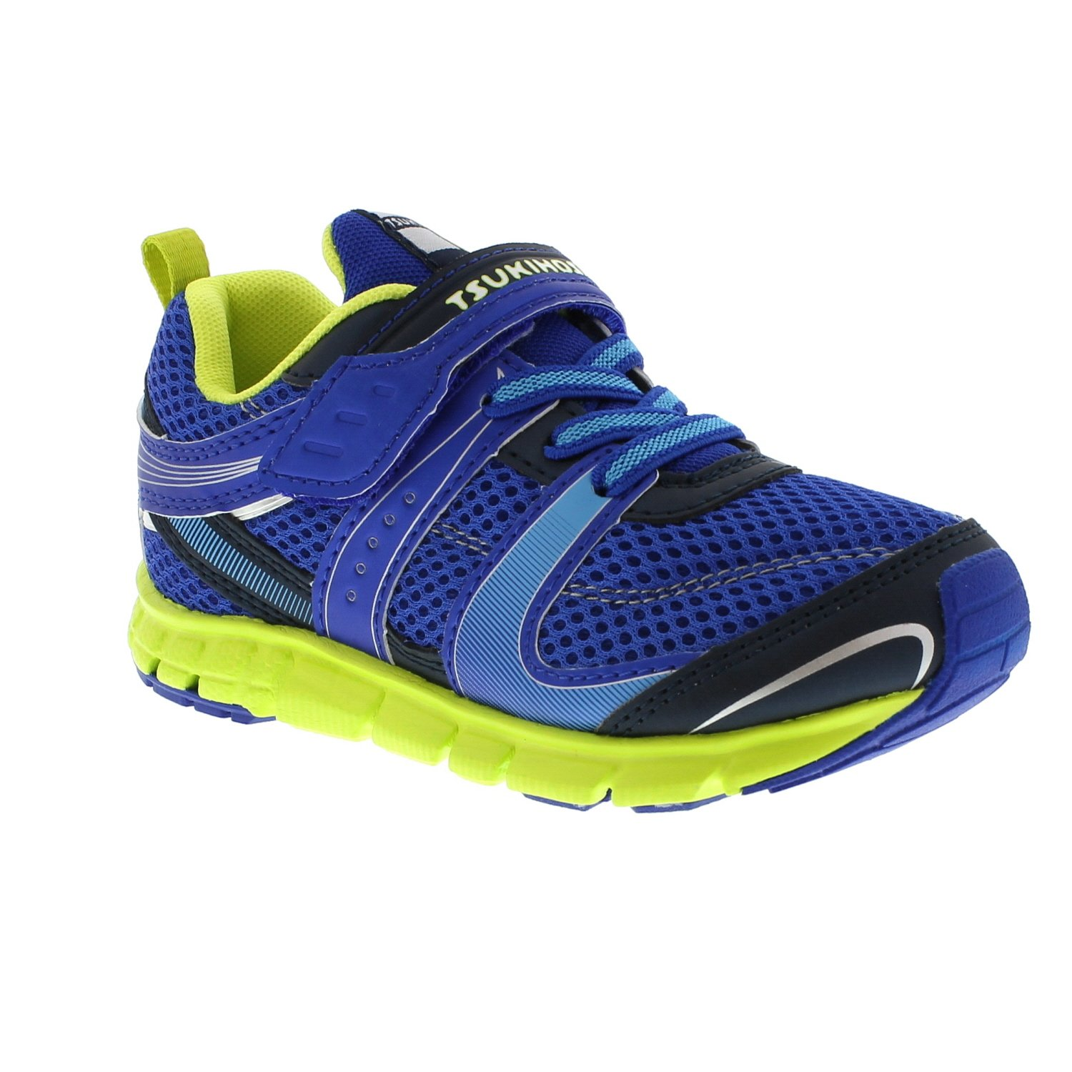 TSUKIHOSHI Boy's, Velocity Kids Sneakers Blue Lime 13.5 M