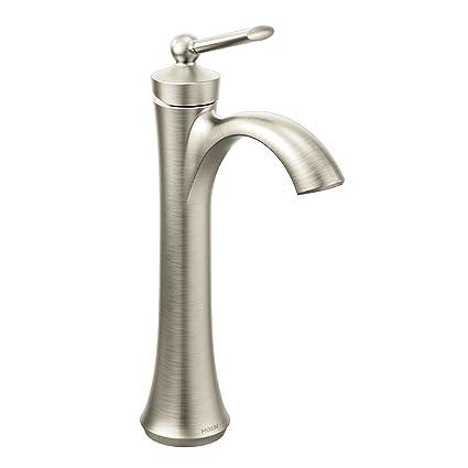 Moen 4507BN Wynford One-Handle High Arc Vessel Bathroom Faucet ...