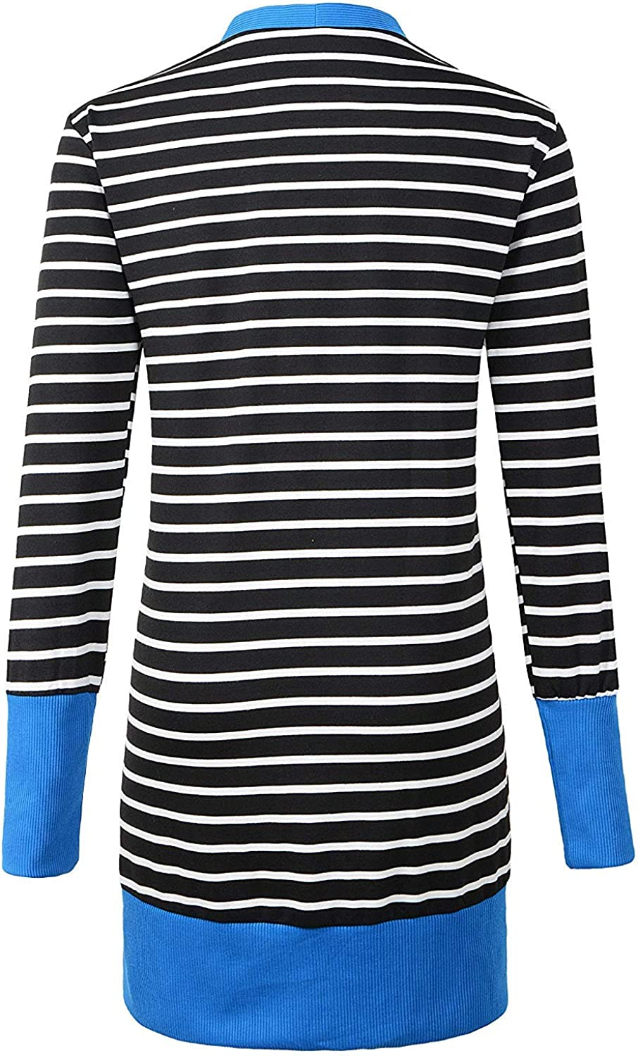 Krissry Womens Fashion Striped Deep V Neck Long Sleeve Contrast Color Cardigans Sweaters