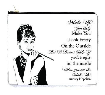 Amazoncom Audrey Hepburn Makeup Quote 65 X 8 Whitesilver - Audrey-hepburn-makeup